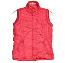 Paris Blues Quilted Zipper Puffer Vest Jacket XS Extra Small Rich Red