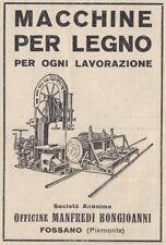 Z3523 Macchine per legno Manfredi Bongioanni - Fossano - Pubblicità - 1929 ad