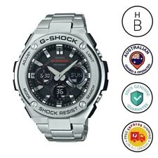 New Casio G-Shock G-Steel Mens Watch Ana Digi Solar GST-S110D-1A Free Express