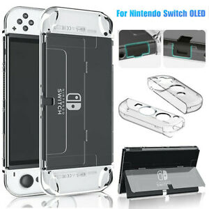 Clear Hard Case Protective Shell For Nintendo Switch OLED Console Joy-Con Cover
