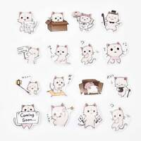 45PCS/Pack Fashion Cat Sticker Decoration Stationery Stickers DIY Diary Label