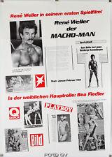 Macho Man 1984 René Weller Peter Althof Bea Fiedler Nürnberg Orig.-Kinoplakat