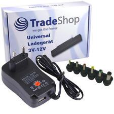 2A Universal Ladegerät Netzteil 3V 4,5V 5V 6V 7,5V 9V 12V 2.5x0.7mm Adapter +USB