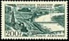 """FRANCE TIMBRE STAMP AVION N° 25 """" VUES STYLISEES BORDEAUX 200F """" NEUF xx LUXE"""
