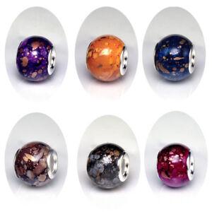 Beads Muranoglas Beads 925 Silber Bead für Armband Goldzeichen