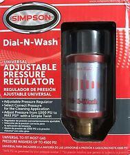 Simpson Cleaning Dial-N-Wash Adjustable Pressure Regulator Gas Washers 82232 NEW