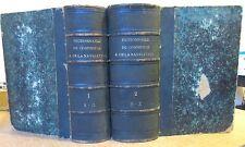 DICTIONNAIRE UNIVERSEL DU COMMERCE ET DE LA NAVIGATION 1859-61 COMPLET MARITIME