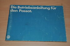 VW Passat 1,3l Vergaser 1,6l Vergaser BA Bedienungsanleitung Betriebsanleitung