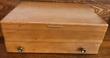 McGraw Wooden Silverware Flatware Storage Box Chest Anti-Tarnish w/ Drawer Vtg
