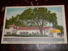 DAYTONA BEACH FL - RARE POSTCARD - JOHNSTON'S COFFEE SHOP - BEST APPLE PIE