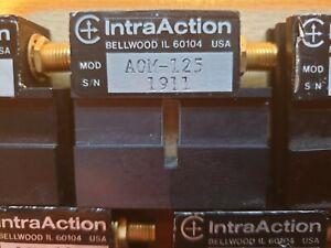 IntraAction Corp AOM-125MHz Modulator. Data same as Landwehr AOM-125Mhz