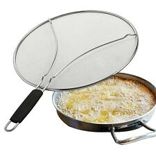 13'' Splatter Screen for Frying Pan,Stainless Steel Grease Guard Shield