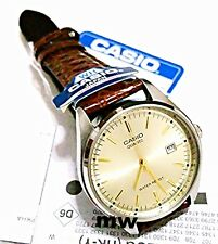 Authentic CASIO MENS MTP1175E-9A MTP-1175 DATE ANALOG BROWN LEATHER DRESS WATCH