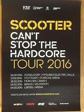 SCOOTER 2016 TOUR    -  orig.Concert Poster -- Konzert Plakat  A1 NEU