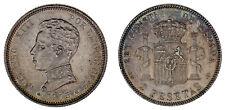 2 SILVER PESETAS / 2 PESETAS PLATA. MADRID. ALFONSO XIII. 1905*19-05. AU/SC-.