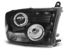 Paire de feux phares Dodge Ram 09-11 angel eyes noir (O08)