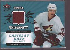 LADISLAV NAGY 2006-07 FLEER ULTRA GAME USED WORN JERSEY PATCH COYOTES $15