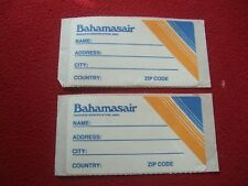 AIRLINE BAGGAGE STICKERS X 2 BAHAMASAIR 1980'S / 90'S VINTAGE