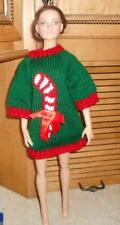Longer Dr. Green Sweater w/Candy Cane Motif for American Model 22 in Doll