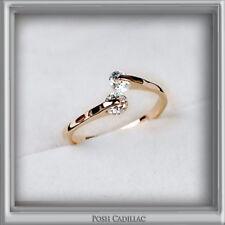 Adjustable Elegant 18K Gold Plated Crystal Engagement Wedding Posh Cocktail Ring
