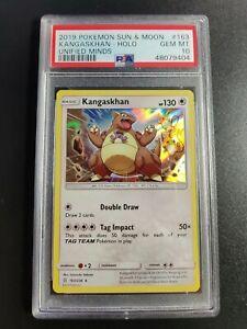 Kangaskhan   Holo   PSA 10 GEM MINT   2019 Unified Minds #163   Pokemon