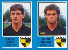 406 PASCAL BOVRI - JOHAN MALFAIT BELGIQUE LIERSE.SV STICKER FOOTBALL 87 PANINI