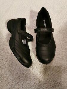 Ladies Black Leather Mary Jane Skechers  Strap UK 5
