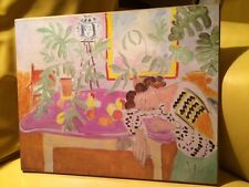 Still Life with Sleeping Woman Henri Matisse Print Laminated on Wood Plaque RARE