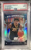 "🔥2019 Panini Prizm DP SILVER PRIZM JA MORANT RC#44 ""All-Americans""PSA 9-Low Pop"