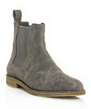 New Handmade Mens Grey Chelsea Suede Leather Boots, Men suede leather boot