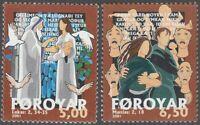 Faroe Islands #407-408 Fa412-413 MNH CV$3.00