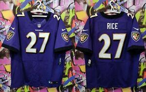 250$ Baltimore Ravens Ray Rice #27 NFL Purple Football Jersey Sewn Nike Mens 56