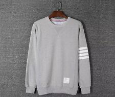 Thom Browne Long sleeve Gray Striped Sweatshirt  Size1(S)