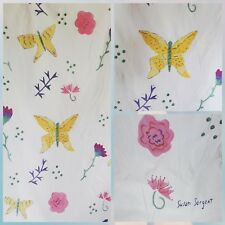 SUSAN SARGENT Duvet Cover 66 x 89 Twin Art  Whimsical Butterflies Floral