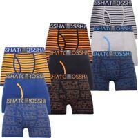 Crosshatch Mens Boxer Shorts Pack of 3 Underpants Logoline Designer Underwear