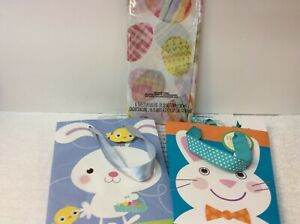EASTER TISSUE & 2 GIFT BAGS New with tags Tissue (6 sheets) & 2 Paper Gift Bags