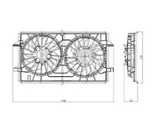 Dual Radiator and Condenser Fan Assembly TYC 621790