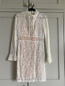 Maje White Lace Dress Summer Wedding 36 / UK 8