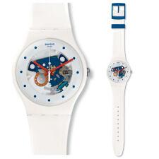 Swatch Horseshoe Uhr SUOW129 Analog  Silikon Weiß