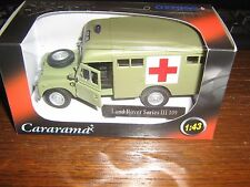 CARARAMA DIE CAST-LAND ROVER SERIES 3 109 -ARMY BOX AMBULANCE -GREEN LIVERY 1:43