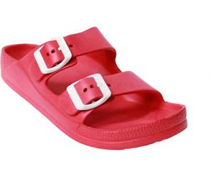 Women Eva Sandals Slides Double Strap Buckle Rubber Foam Water Shoe Pool Comfort