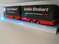 EDDIE STOBART ARTIC MODEL DOUBLE TRAILER  CURTAINSIDER TRUCK CURTAIN SIDER LORRY