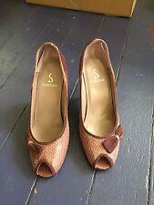Sachi Purple Leather / Suede Heels.  Size 5.5Aus