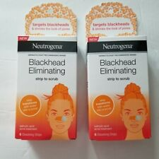 Neutrogena Blackhead Eliminating Strip To Scrub, 6 ct Lot of 2 NEW
