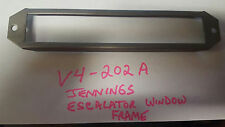 JENNINGS ANTIQUE SLOT MACHINE ESCALATOR GLASS FRAME REPRODUCTION JENNINGS V4-202