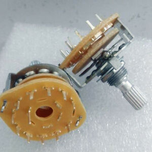 10x Rotary Switch Potentiometer 1 Pole 11 Position for Guitar effect/Audio 1P11T