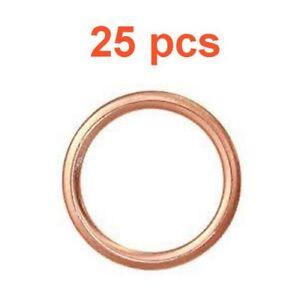 (25) Marli 14mm Crushable Copper Oil Drain Plug Gaskets M14 RPL 095-010