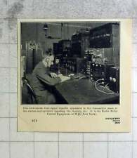 1924 The Radio Relay Control Equipment At W Jz, New York