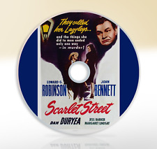 Scarlet Street (1945) DVD Classic Crime Drama Film / Movie Edward G Robinson