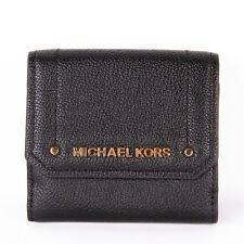 NWT Michael Kors HAYES Leather Medium Trifold Coin Purse Card Case Flap Wallet